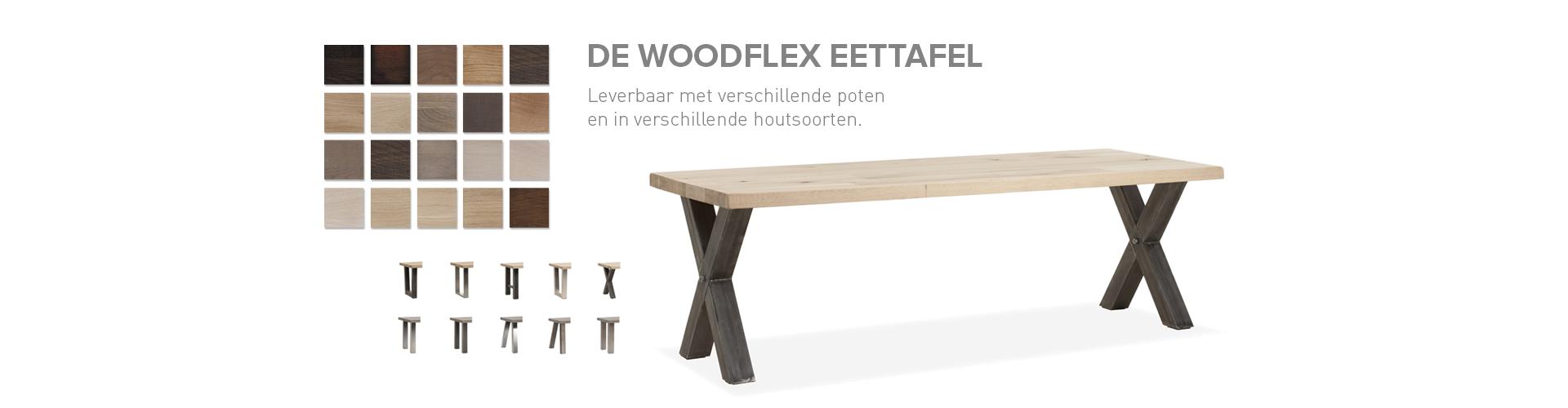 Herraets Wonen Collectie Tafels, Woodflex Eettafel