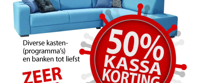 Herraets Wonen 50% Kassa korting